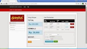 Sistem Informasi Penjualan dan kasir Toko Baju berbasis web php mysql
