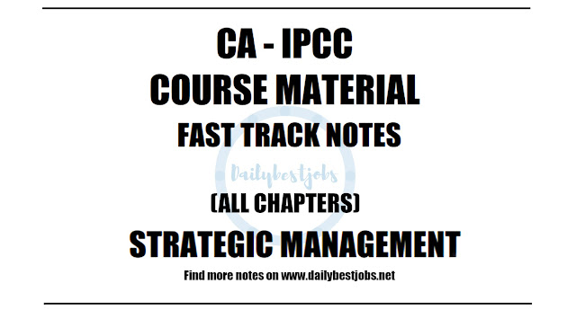 IPCC SM Fast Track Notes