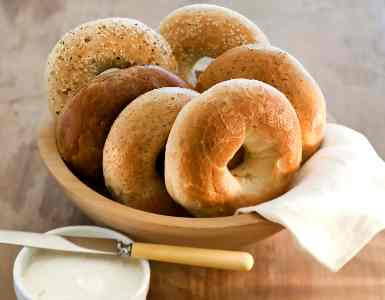 bagels- whole grains