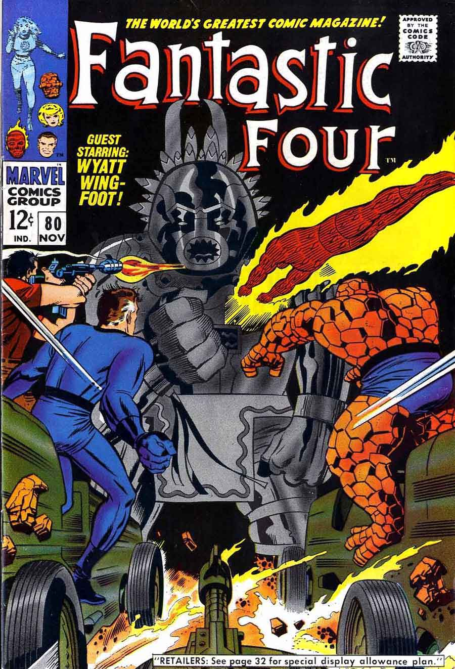 Fantastc Four v1 #80 marvel 1960s silver age comic book cover art by Jack Kirby