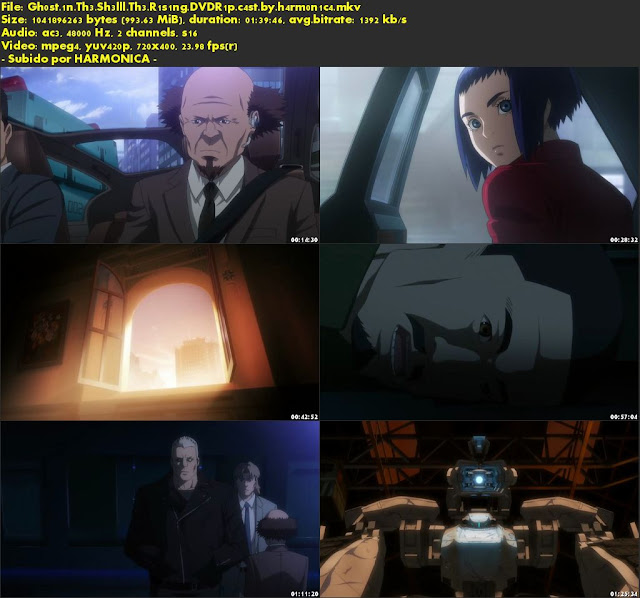 Descargar Ghost in the shell: The rising Castellano por MEGA.