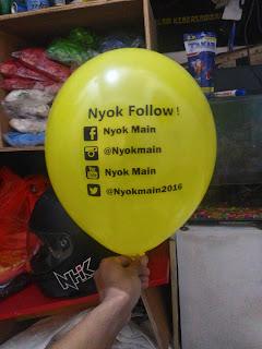 pabrik balon print murah