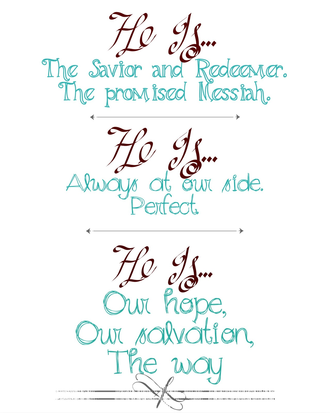 He is the Savior and Redeemer, the promised Messiah Christmas Printable 8x10