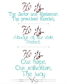 He is the Savior and Redeemer, the promised Messiah Christmas Printable 8x10