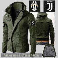 Jual Jaket Bola Parka Juventus Type A Logo Lepas Pasang