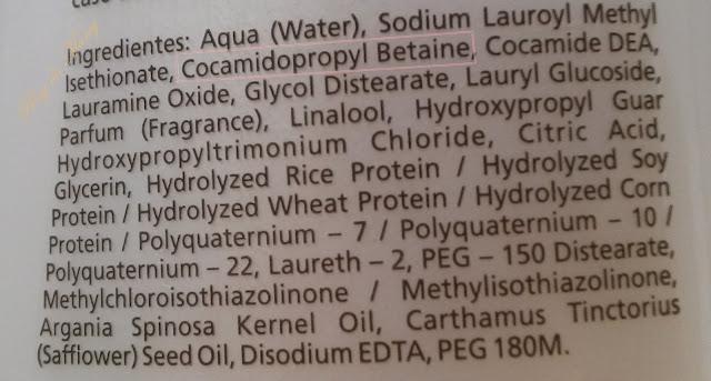 Conposição do Sampoo Sem Sulfato Pós Progressiva Bio Extratus