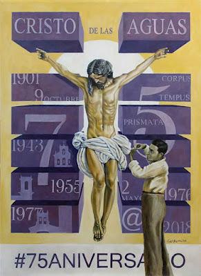Cartel y actos por los 75 años del Cristo de las Aguas de Sevilla
