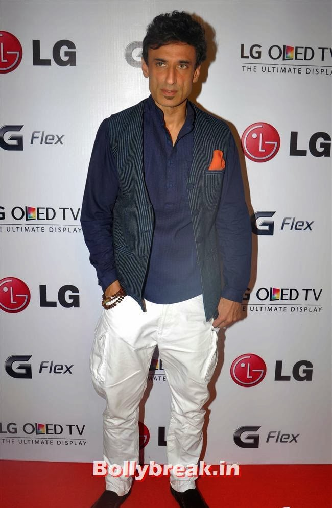 Rahul Dev, Celebs at LG G Flex Smartphone Launch