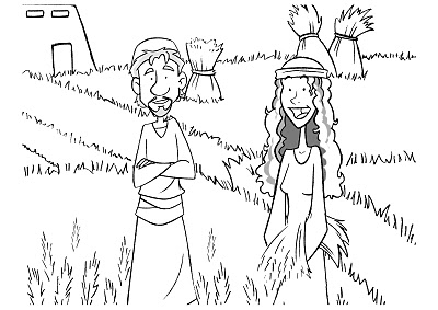Naomi ruth boaz coloring page coloring pages for Ruth and boaz coloring pages