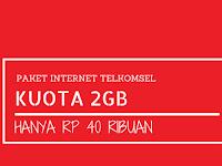 Paket Internet Telkomsel 2GB/30 Hari Hanya 40 ribu (Tanpa Videomax), Mau?