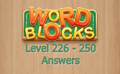 Word Blocks Level 226 Answers