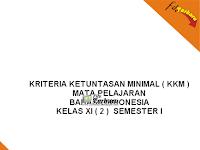 Download KKM SMA Kelas XI Tiap Mata Pelajaran Lengkap