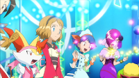 Serena en el gran espectaculo Pokemon