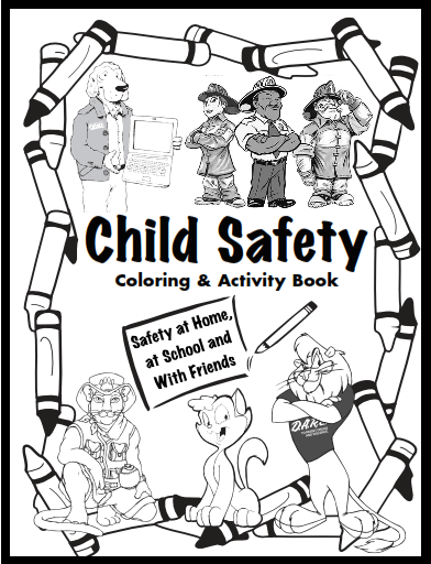 Keeping kids safe free download fire gun safety for Internet safety coloring pages