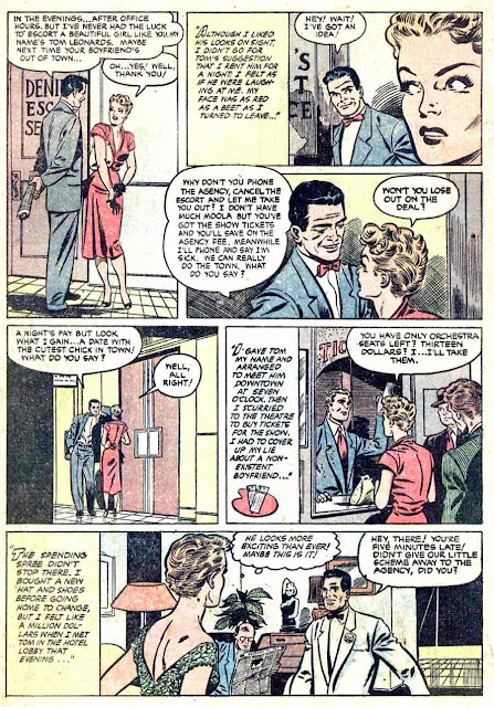 Pictorial Romances v1 #24  st. john romance comic book page art by Matt Baker