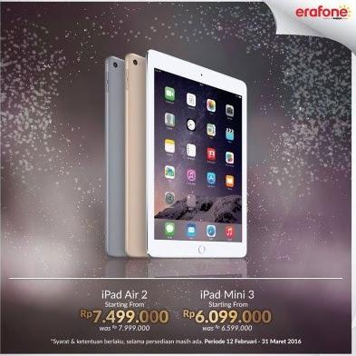 Promo Harga Spesial iPad di Erafone Hingga 31 Maret 2016