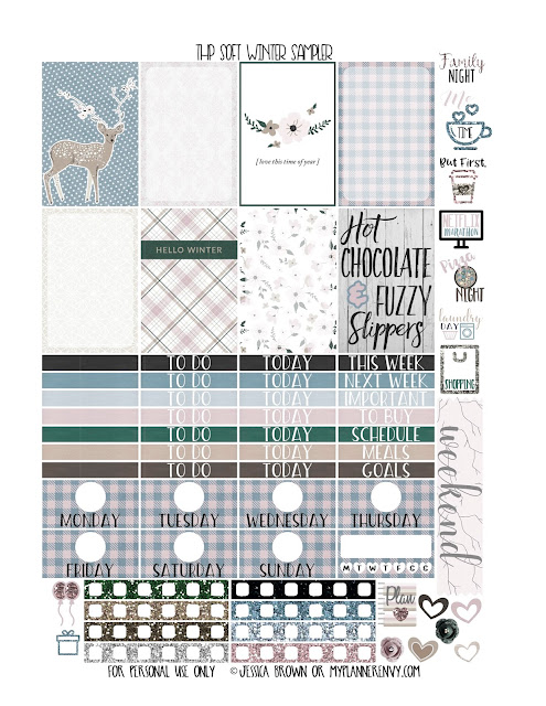 Reformatted Free Printable Happy Planner Soft Winter Sampler from myplannerenvy.com