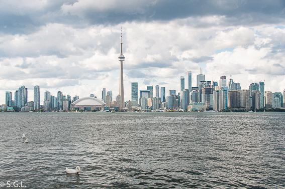 Toronto Skyline desde las islas de Toronto