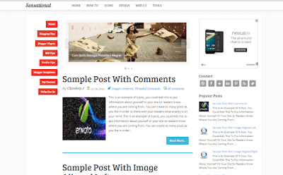 sensational blogspot template