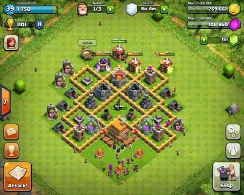 Gambar Base Coc Th 5 Terkuat 11