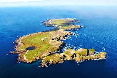 vista aérea da Ilha de Tory – Irlanda