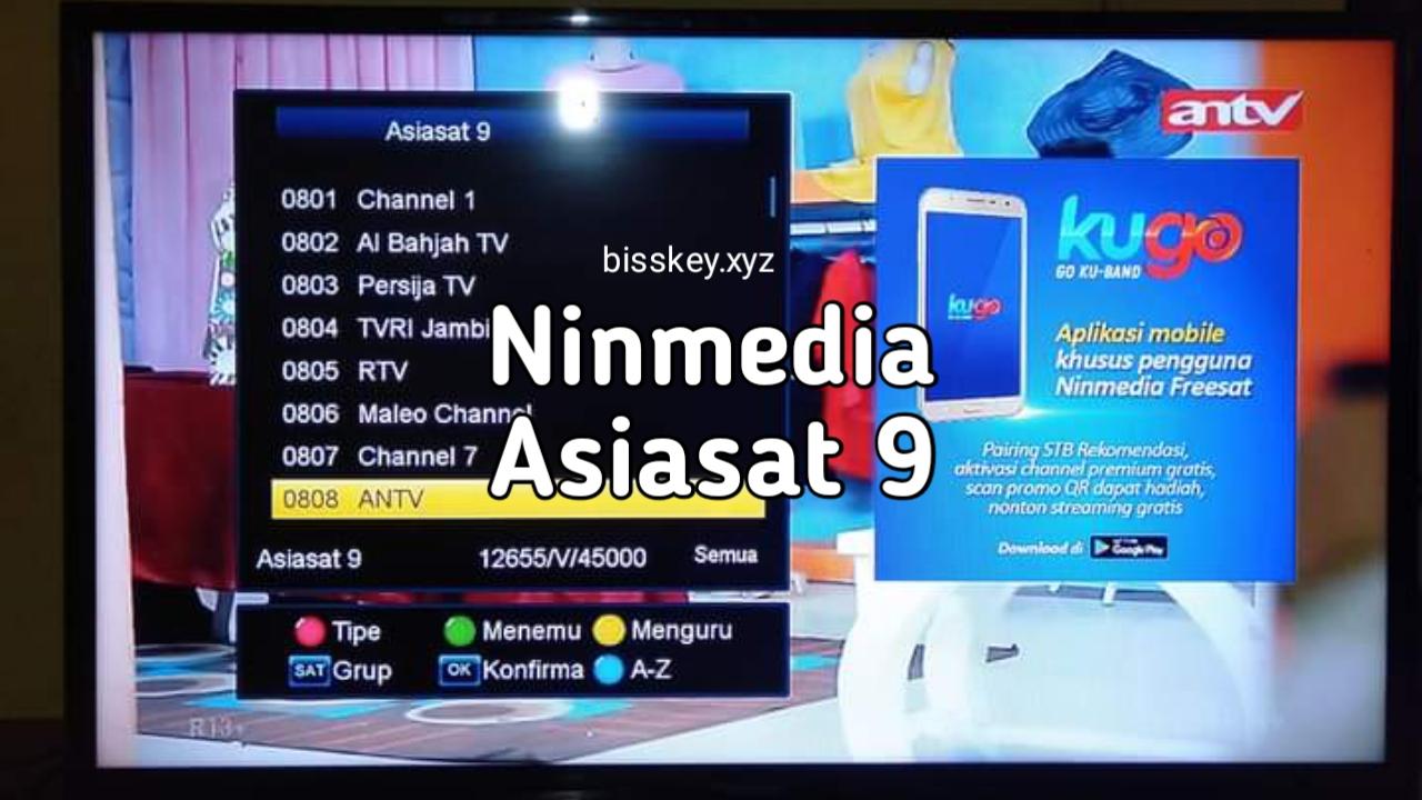 Frekuensi Ninmedia Terbaru 2020 di Asiasat 9