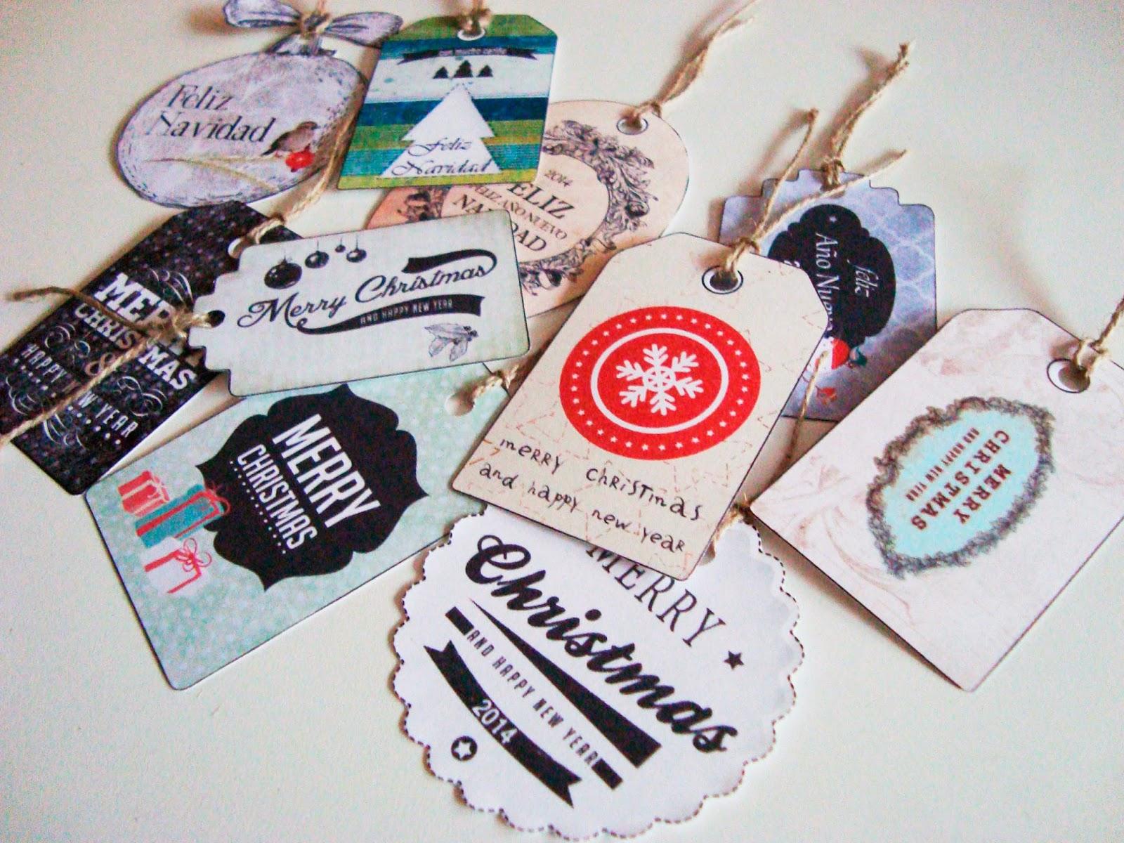 Dibujos De Navidad En Color: Etiquetas De Navidad Para Imprimir