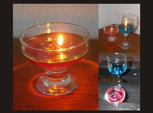 velas con aceite y agua manualidades forja ideas