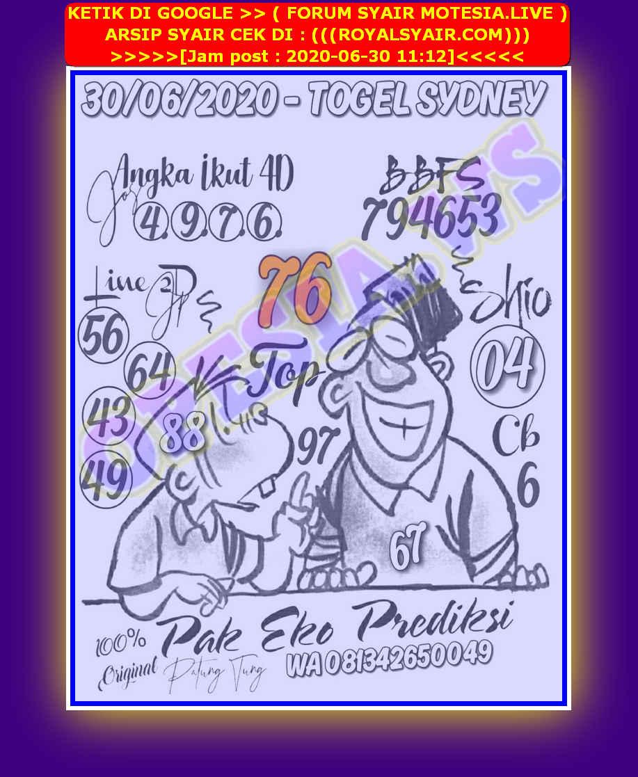 Kode syair Sydney Selasa 30 Juni 2020 20