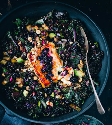 purple-kale-aubergine-blackberry-salad