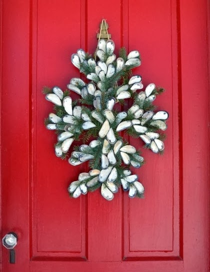 seashell door wreath