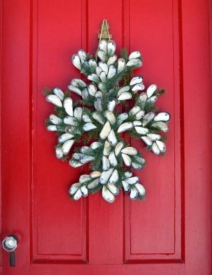 seashell door wreath