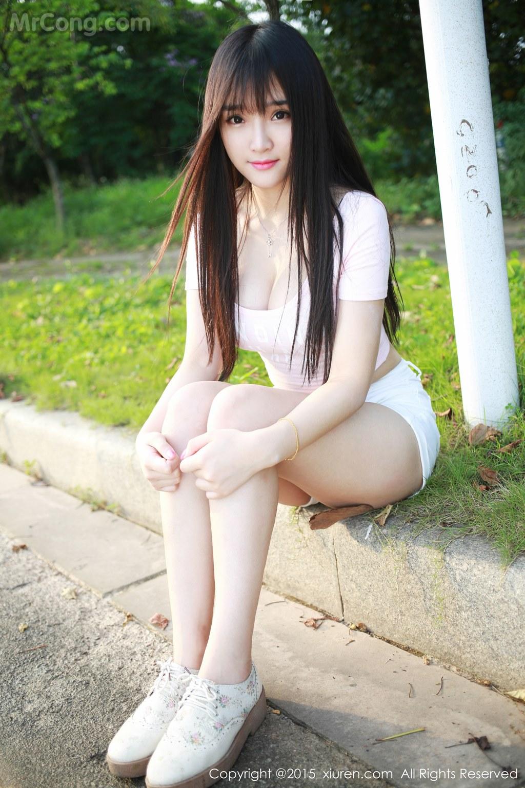 MrCong.com XIUREN No.345 Xia Yao baby 021 - XIUREN No.345: Model Xia Yao baby (夏 瑶 baby) (43 pictures)