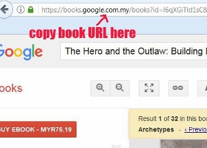how to copy free preview pages of books at Google Books site