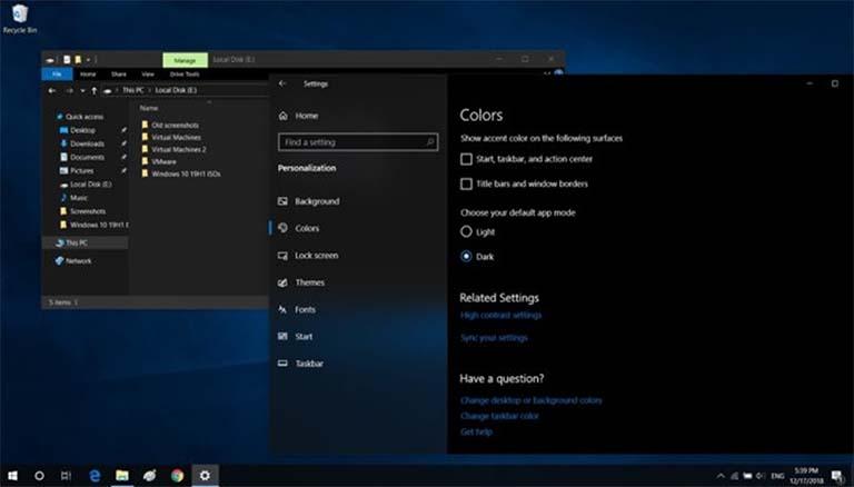 File Explorer Windows 10 Akan Memiliki Pengaturan Sendiri Untuk Mengubah Tema?