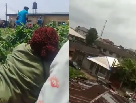 Female Corper Hides In The Bush, Cries As Gunmen Storm Their Polling Unit