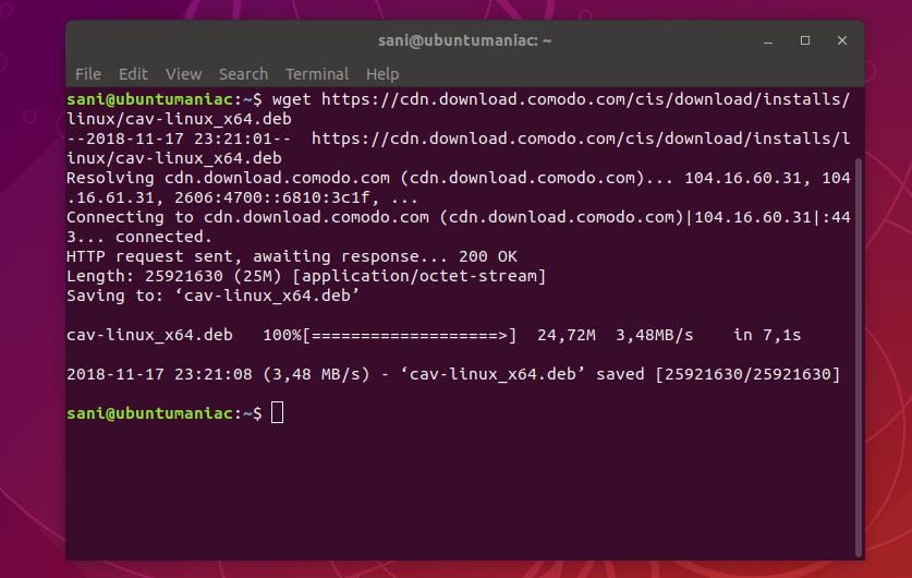 Install Comodo AntiVirus on Ubuntu (18 04 / 18 10 ) and
