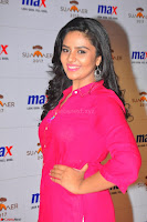 Sree Mukhi in Pink Kurti looks beautiful at Meet and Greet Session at Max Store (42).JPG