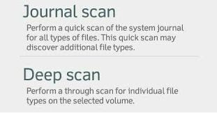 Journal Scan and Deep Scan