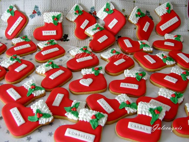 Galletas bota de navidad