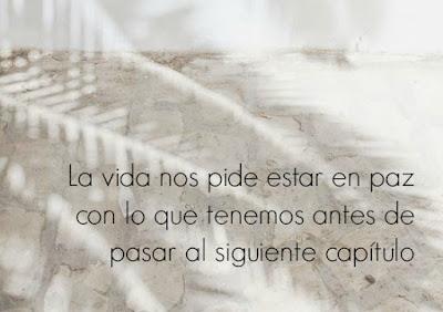 """""""La vida nos pide estar en paz con lo que tenemos antes de pasar al siguiente capítulo"""" (Sergio Fernández)"""