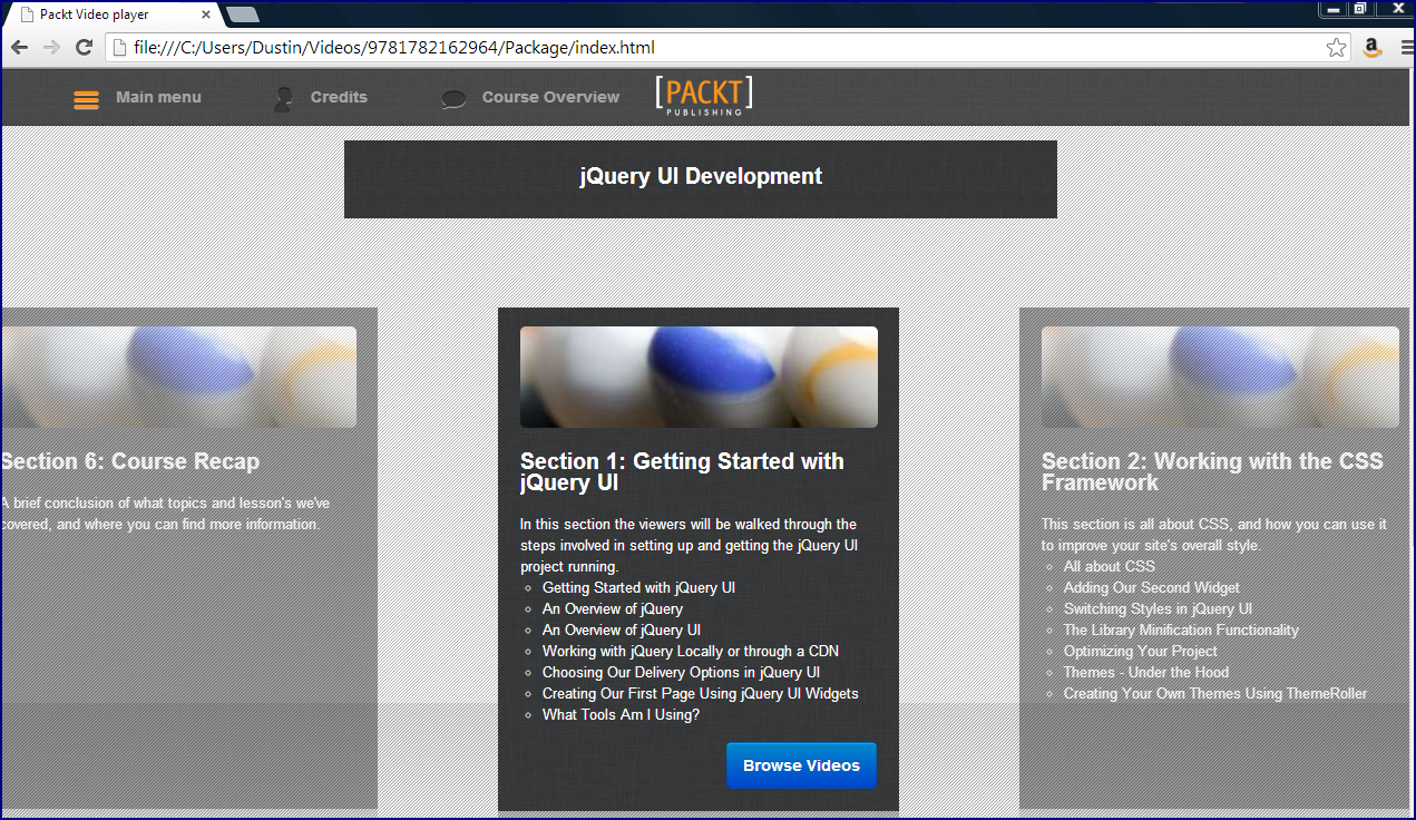 Inspired by Actual Events: Video Review: jQuery UI Development