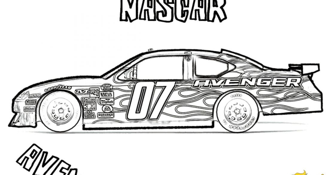 nascar coloring 18 pages - photo #30