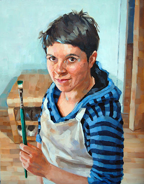 Micaela Walker, Self Portrait, Portraits of Painters, Fine arts, Portraits of painters blog, Paintings of Micaela Walker, Painter Micaela Walker