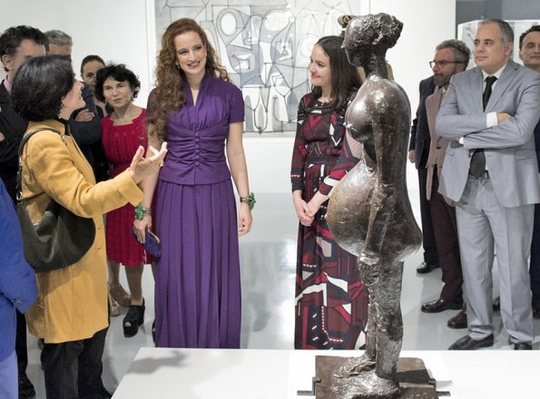 Princess Lalla Salma of Morocco attended opening of 'Face à Picasso' exhibition at the Mohammed VI Museum in Rabat.
