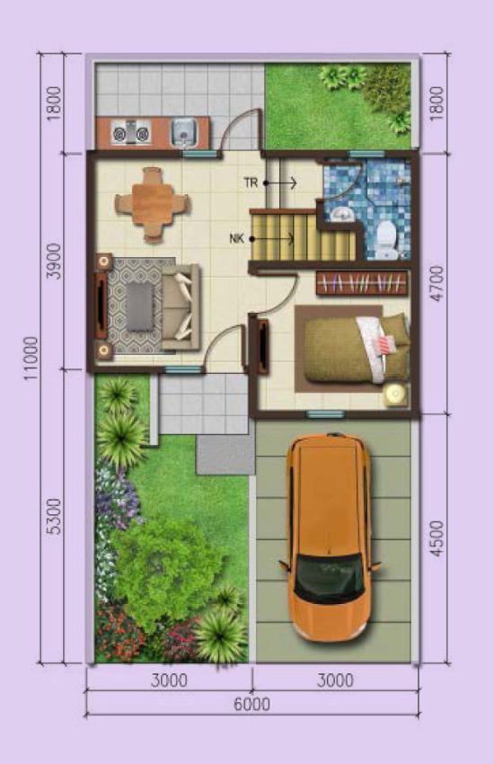 52 Foto Desain Rumah 3 Kamar 2 Teras Terbaru Download