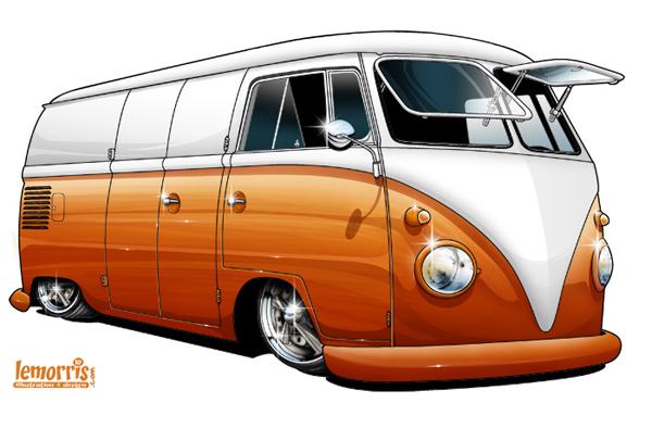 The Wahey Bus Vw Split Bus Art