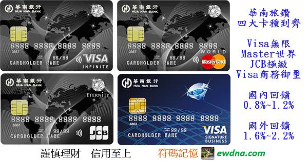 華南旅鑽無限/世界/極緻/商務御璽高等卡全包! @ 符碼記憶