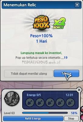 PESO 100% Gratis dari Relic