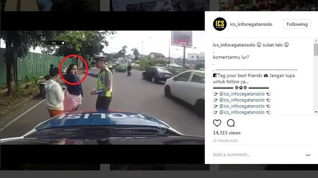 Ditilang, Gadis ini Malah Terus Menggoda Polisi dengan Jawaban yang Konyol